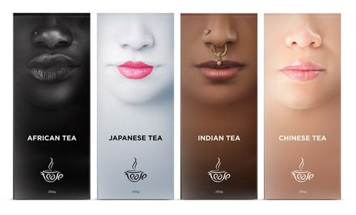 Unusual and clever tea branding IMPDO.