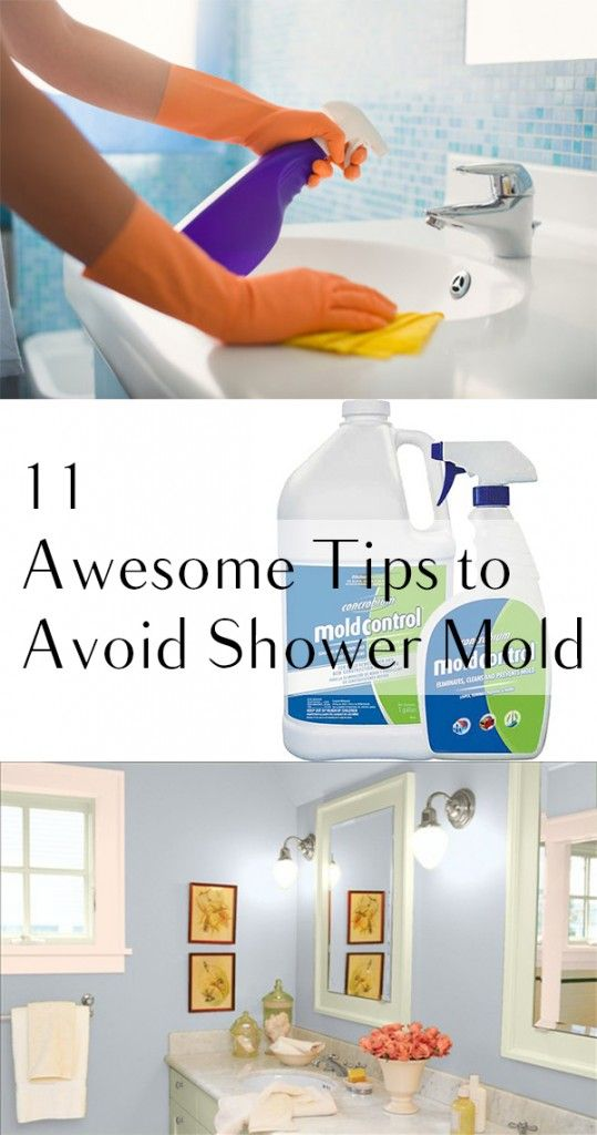 Shower mold cleaning hacks and bathroom mold on pinterest for Bathroom cleaning ideas