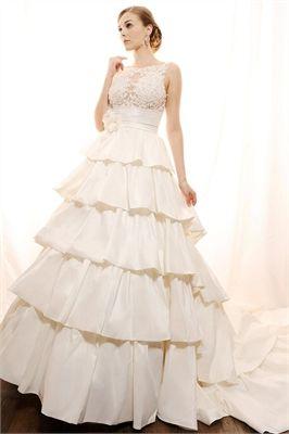 wedding dress layers