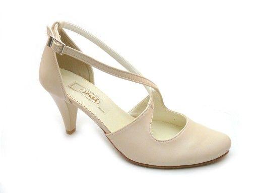 Buty Slubne Wygodne Paski Tessa 405 Ecru 35 Wedding Shoes Sandals Navy Wedding Shoes Comfortable Shoes