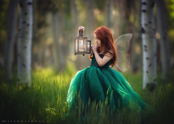 A place where a girl can capture fireflies in a lantern...