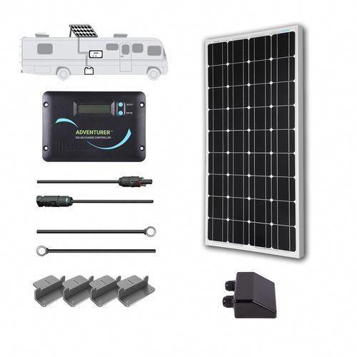 100 Watt 12 Volt Solar Rv Kit Off Grid Solar Solar Panel Kits Monocrystalline Solar Panels