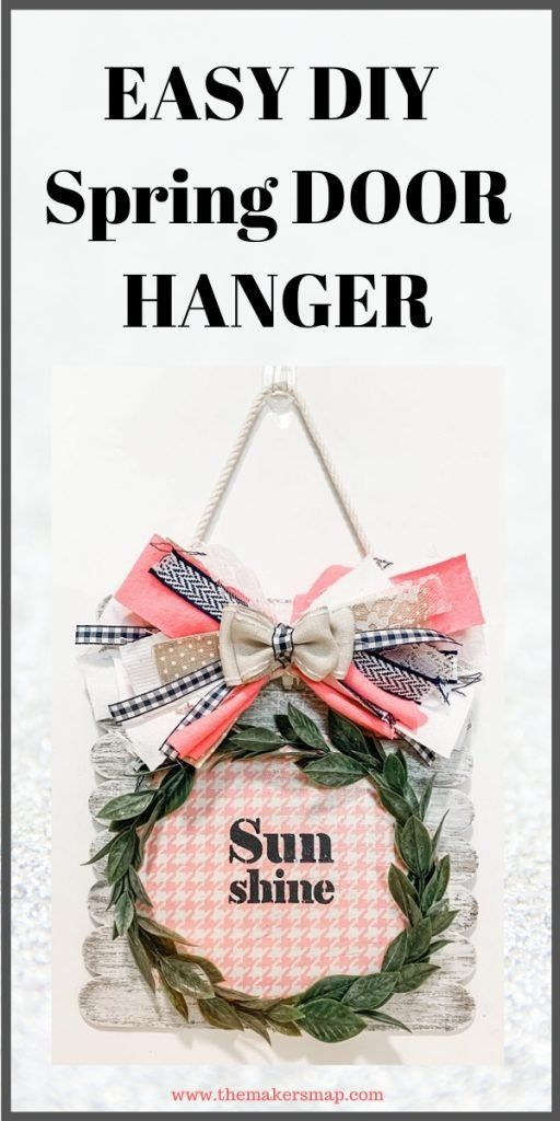 Fun And Easy Diy Spring Door Hanger Spring Diy Spring Diy Projects Door Hangers