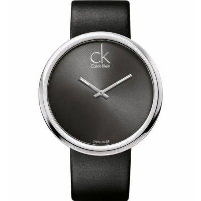 Montre femme Calvin Klein - K0V23107 http://www.watcheo.fr/montres-femme/452-calvin-klein-k0v23107-montre-femme-quartz-analogique-bracelet-cuir-noir.html
