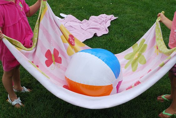 Beach Ball Towel Toss Game - Re-pinned by #PediaStaff.  Visit http://ht.ly/63sNt for all our pediatric therapy pins