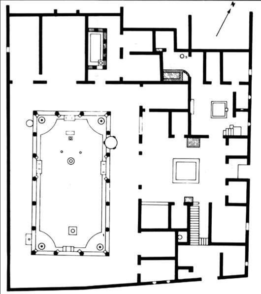 39 House of the Vettii Pompeii Italy Plan without labels