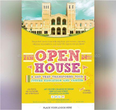 College Open House Flyer Open House Flyer Ideas Pinterest - open house templates