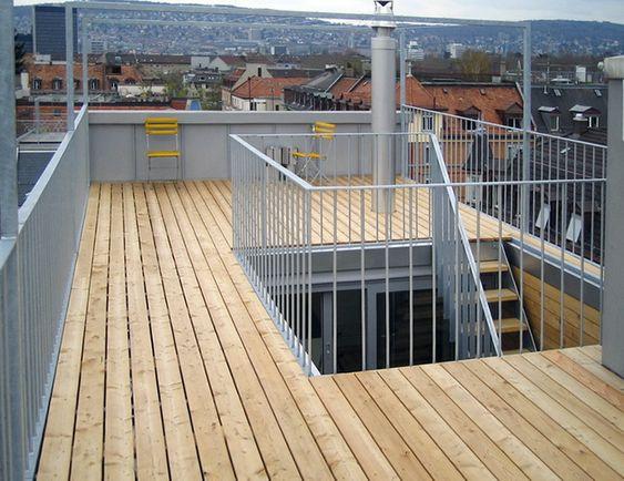 dachterrasse dachzinne treppe lichthof atrium dachtreppe 01