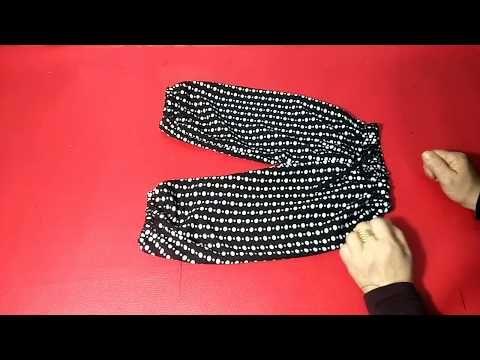 خياطة وتفصيل سروال او بنطلون صيفي لبنت بعمر سنة ونصف الى سنتان Youtube Fashion Gloves