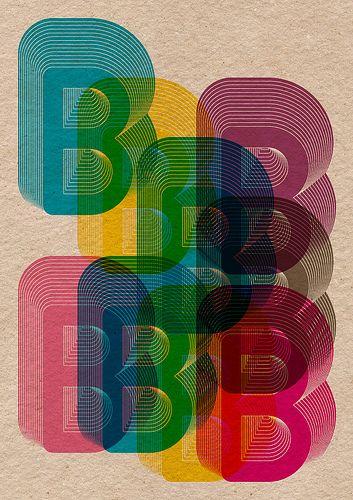 twentysixtypes:  B Poster Repeat, 2 (by Boldover Design)