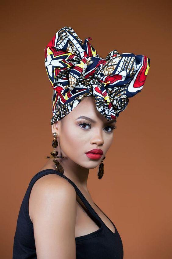 African Print Fora Headwrap