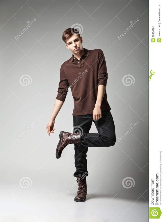 Young male fashion model posing in casual outfit | Fashion Poses - Male | Pinterest | Grey ...