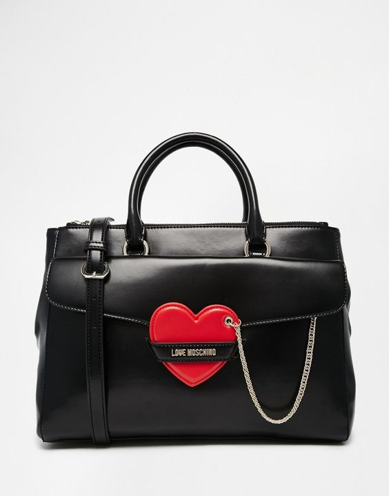Love+Moschino+Tote+Bag+with+Heart+Detail
