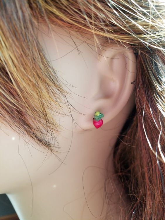 Luna's Radish Earrings by bluesparrowtrinkets on Etsy