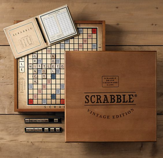 I love playing scrabble. This vintage edition from ... Funnygames Scrabble