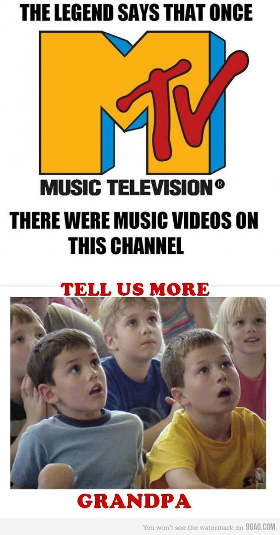 """Amen!  I wish they would bring back the """"old"""" MTV with the 80s music videos.  I would watch that all day long!  I would need the original VJs."""