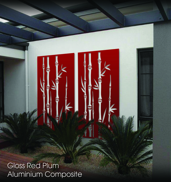 Aluminium Composite decorative screen- Gloss Plum Red