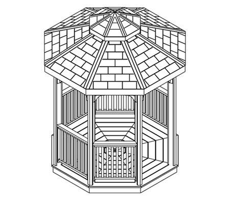 Gazebo and pergola plans download real cedar for Cedar pavilion plans