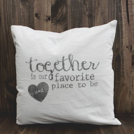 Personalized Throw Pillow - Together is Our Favorite Place ...