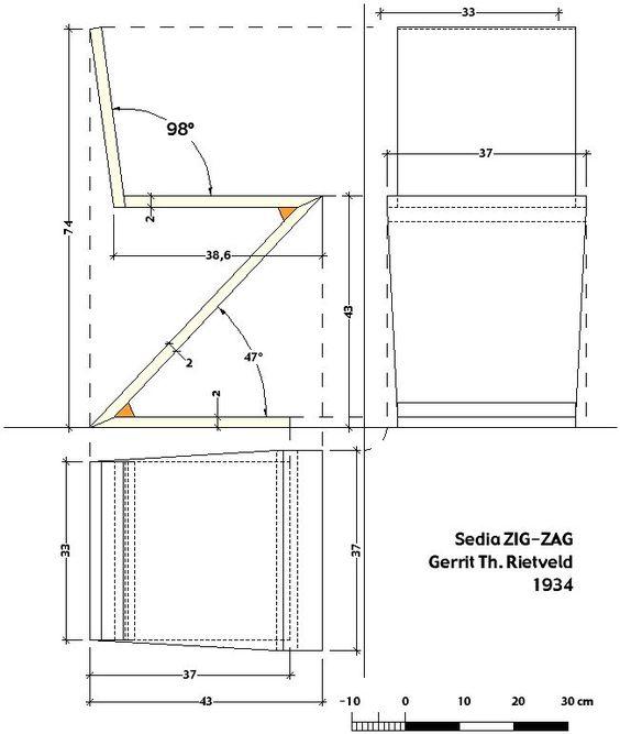 Rietveld zigzag chair hledat googlem estampa for Design stuhl zig zag