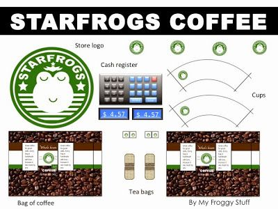 My Froggy Stuff How To Make A Doll Coffee Shop For 10 12 Inch Dolls Barbie Pinterest