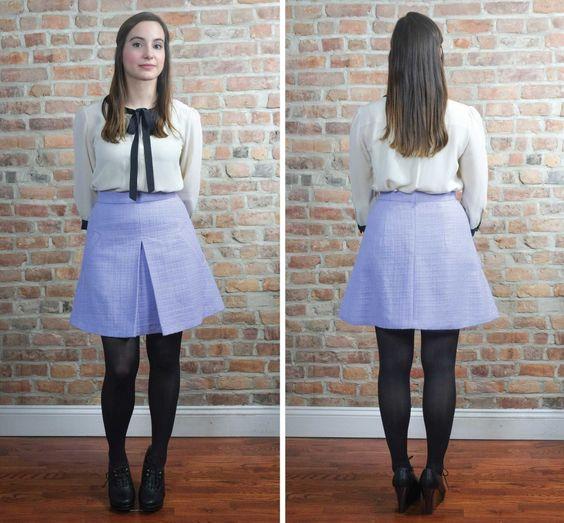 Maison Fleur Sewing Patterns 6104 in lavender boucle from www.maisonfleur.com