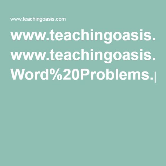 Key Words - Word Problems