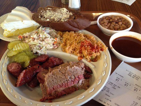 Bill Miller BBQ in San Antonio, Texasnice little salad bar, Great