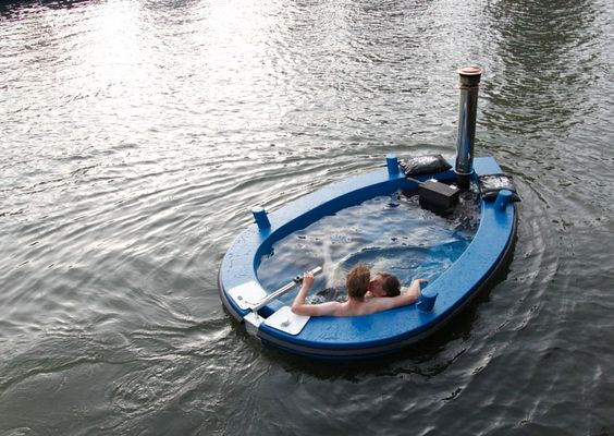 Um, this is awesome. HotTug the Hot Tub Boat