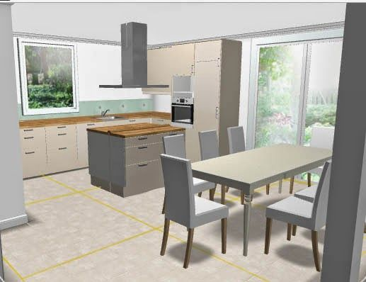 IKEA Metod mit Kochinsel Küche Pinterest Kochinsel, Ikea und - kuechen mit kochinsel