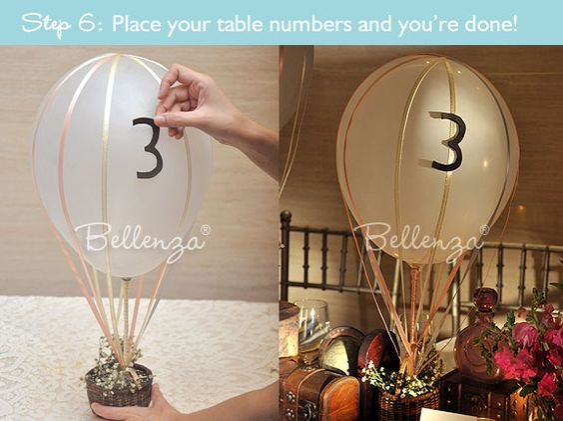 How to make a hot air balloon centerpiece for wedding