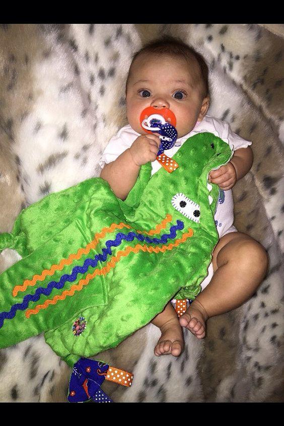 Florida Gators Baby Lovey Kids Very Soft blanket, Pacifier