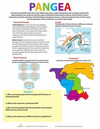 Printables Pangaea Worksheet pangea worksheets pangea
