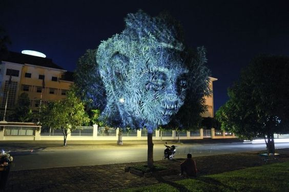 Projection Mapping on Trees  Clement Briend: