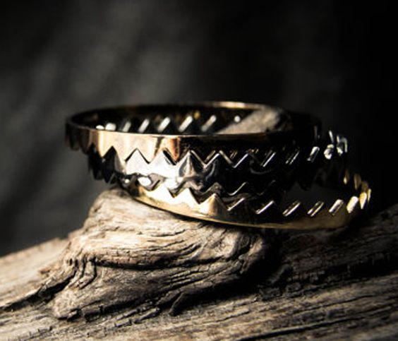 Triple Razor Bangles. I like these.