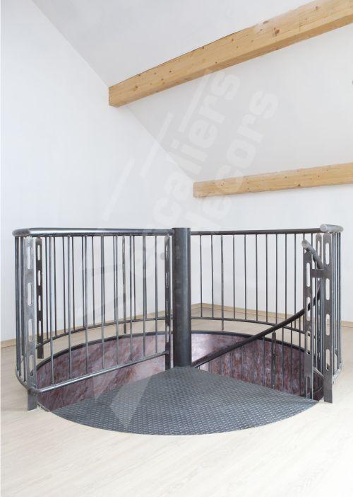 dh86 escalier h lico dal spir 39 d co san francisco. Black Bedroom Furniture Sets. Home Design Ideas
