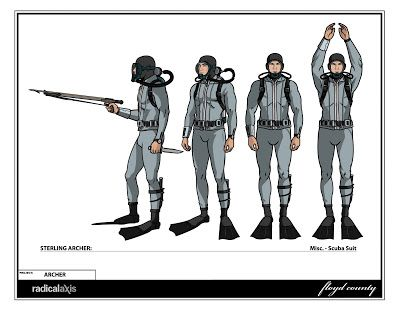 archer character sheet | designer illustrator online ad for archer model sheets for archer