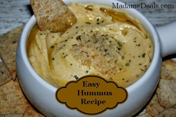 Easy Hummus Recipe: Appetizers Snacks, Healthy Eating, Recipes Appetizers, Healthy Recipes, Easy Hummus, Favorite Recipes, Appetizers Dips, Hummus Recipes, Dip Recipes