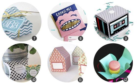 Imprimibles gratis: 18 plantillas de cajitas de regalo (II)