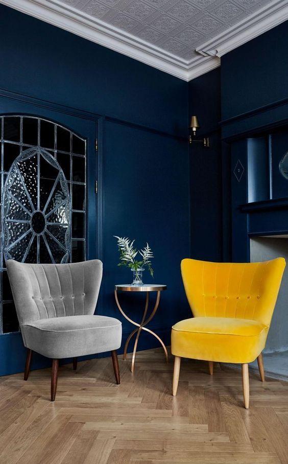 Navy Blue And Mustard Yellow Decor Home Overload Grey And Yellow Living Room Yellow Living Room Velvet Living Room