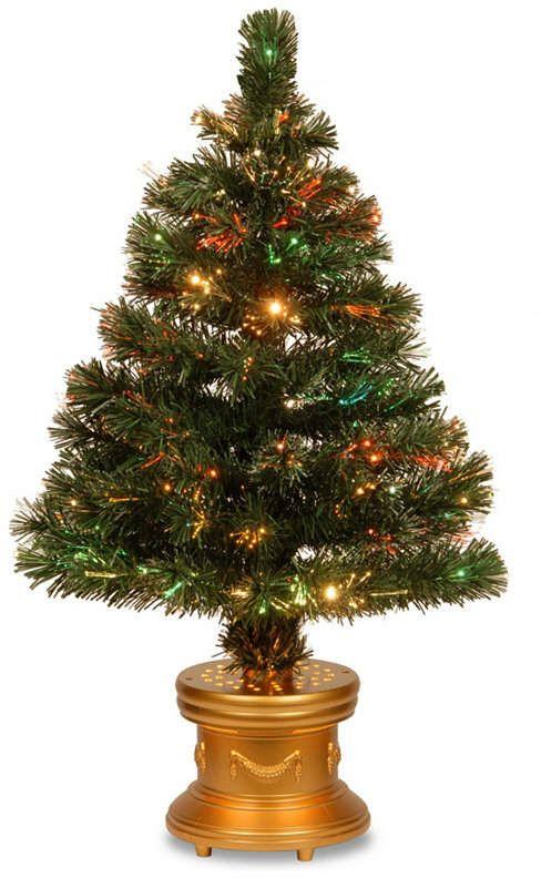 National Tree Company National Tree 32 Fiber Optic Radiance Fireworks Tree Pre Lit Christmas Tree Fiber Optic Christmas Tree Artificial Christmas Tree