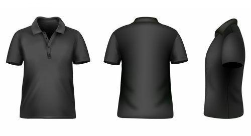 Black polo shirt clip art at clker. Com vector clip art online.