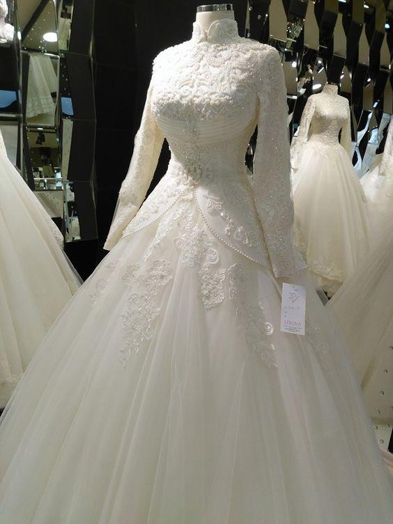 صور فساتين افراح جديدة فساتين افراح محجبات تركى Vestidos Diferentes Vestido De Noiva Vestido De Casamento