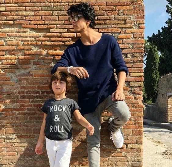 इटली में आर्यन खान और अबराम खान