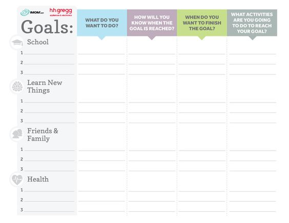 Calendar Year Goals Record : Brilliant goals chart for kids the o jays kid and