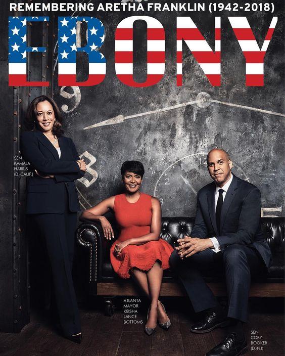 Kamala Harris, Keisha Lance Bottoms, and Corey Booker Cover Ebony Magazine October 2018
