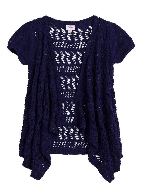 Open Stitch Ruffle Cardigan | Girls Sweaters Clothes | Shop Justice