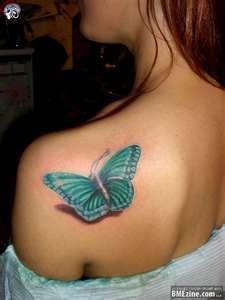 Butterfly Tattoo: 3D Tattoo, Awesome Tattoo, Tattoo Design, Pretty Tattoo, Shoulder Tattoo, Tattoos Piercing, 3D Butterfly Tattoo