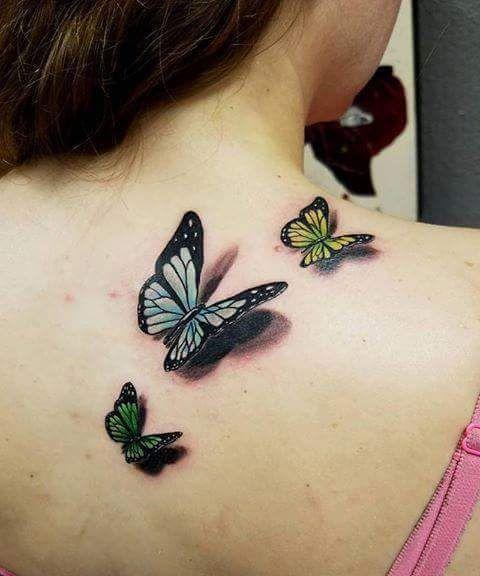 13 Tatuajes de mariposas para mujer