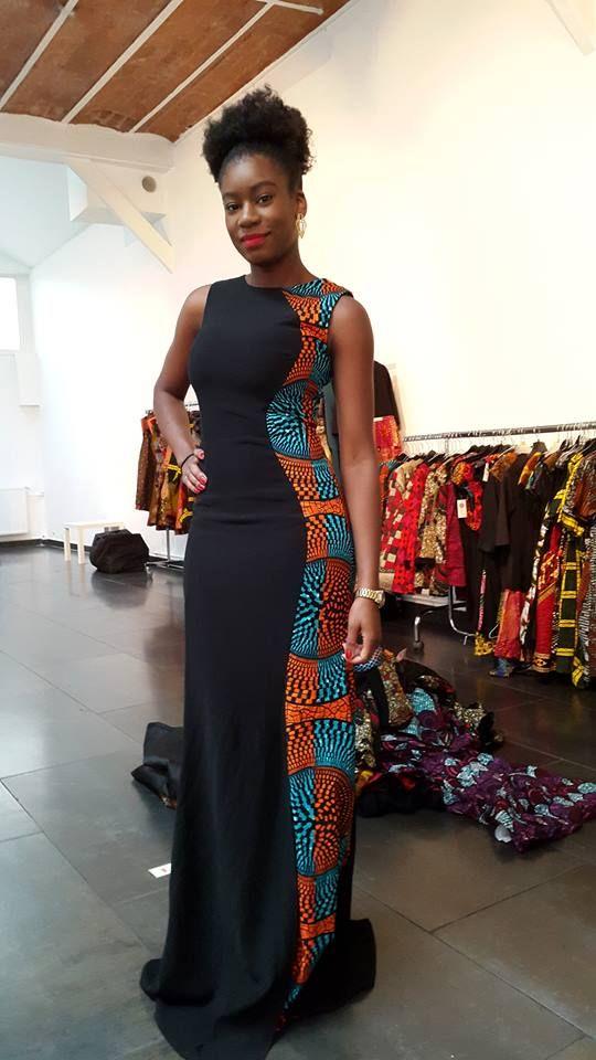 Belle coupe!!! ~African fashion, Ankara, kitenge, African women dresses, African prints, Braids, Nigerian wedding, Ghanaian fashion, African wedding ~DKK: